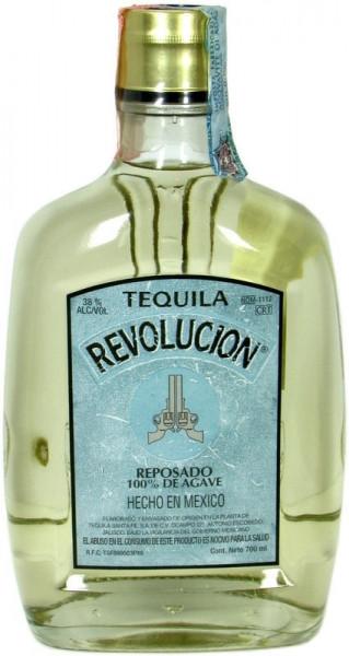 Tequila Revolucion Reposado - brauner Tequila aus Mexiko 0,7l