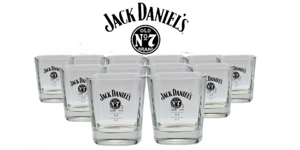 12er Pack Jack Daniels Whiskey Glas - Tumbler Nr. 4 - 20% Rabatt