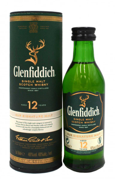 Glenfiddich Whisky 12 Jahre Special Reserve 0,05l