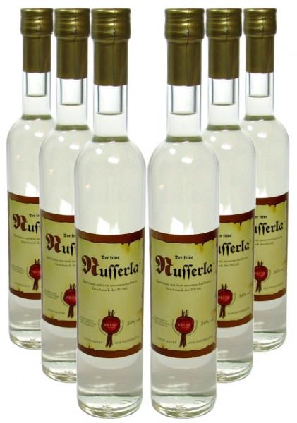 6 Flaschen Prinz Nusserla 0,5l - Nussschnaps von der Feinbrennerei Prinz aus Österreich