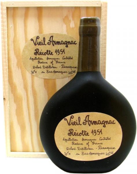 Vieil Armagnac Delord 0,7l Jahrgang 1951 incl. Holzkiste