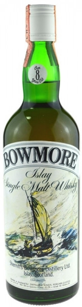 Bowmore Whisky Sheriff`s - 40,12% vol. (=70 Proof) - 26 2/3 fl. oz. (= 0,7l), 8 Jahre alt