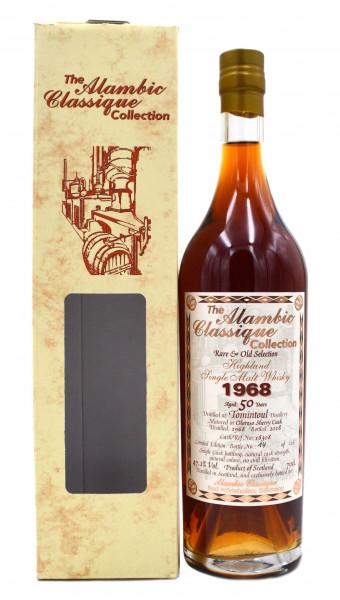 Tomintoul Jahrgang 1968 - 50 Jahre alt 0,7l Alambic Classique