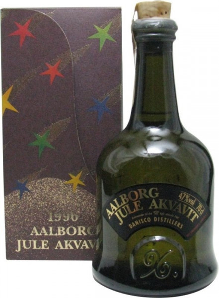 Aalborg Jule Akvavit Jahrgang 1996 - 0,7l - Sonderabfüllung incl. Geschenkpackung
