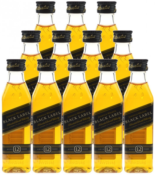 Johnnie Walker Black Label 12 Jahre 12x0,05l