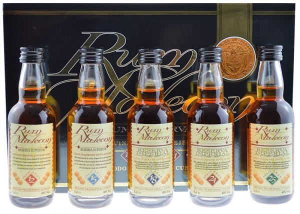 Malecon Rum Miniaturenset 5x0,05l