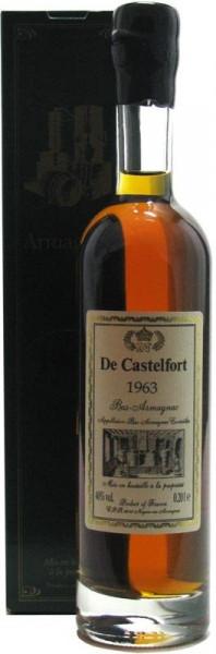 Armagnac De Castelfort 0,2l Jahrgang 1963 abgefüllt 2014 - 51 Jahre im Fass gereift inkl. Geschenkka
