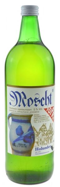 Prinz Moscht Obstwein mit Holunderblütenauszügen