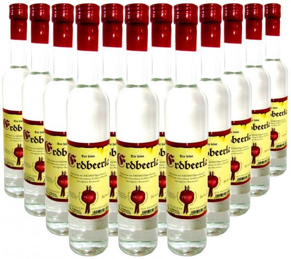 36 Flaschen Prinz Erdbeerla ( Erdbeerschnaps ) 0,5l aus Österreich - 4,5% Rabatt