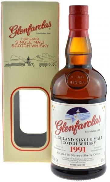 Glenfarclas Whisky Jahrgang 1991 - 0,7l Oloroso Sherry Cask Whisky inkl. Geschenkkarton - Christmas
