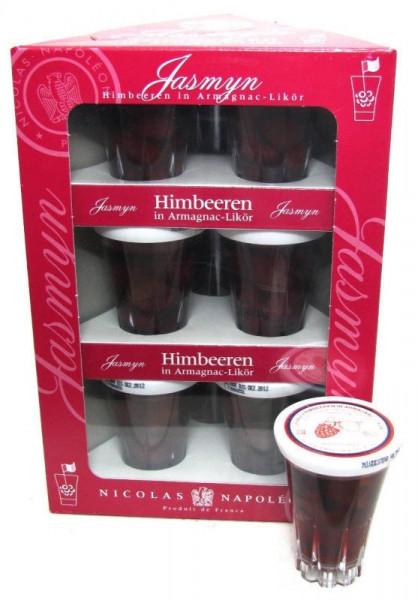 Jasmyn Himbeeren in Armagnac-Likör 9x0,04l Miniaturen