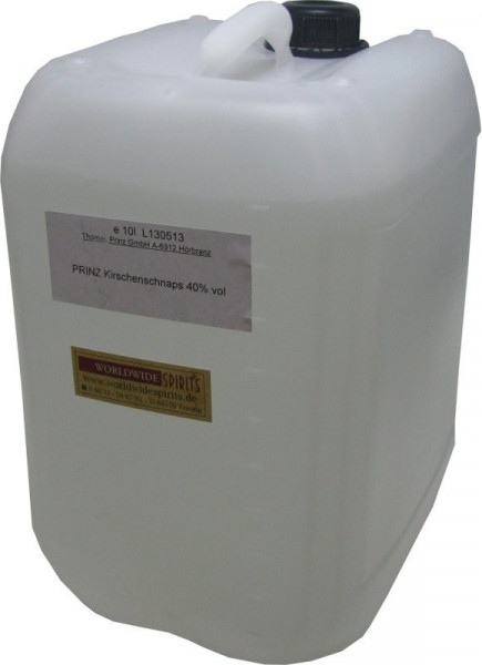 Prinz Kirschenschnaps ( Kirschwasser ) 10 Liter Kanister aus Österreich