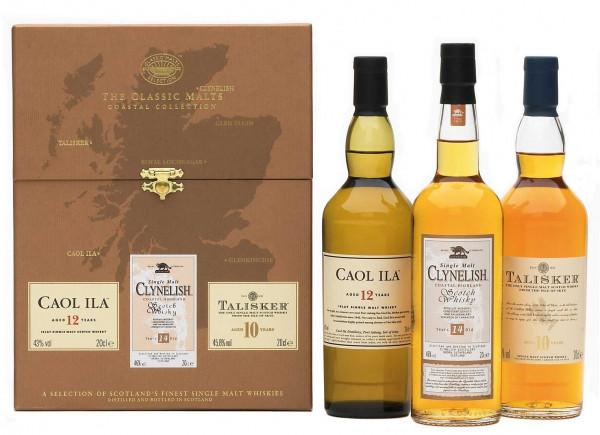 The Classic Malt Coastal Collection 3x0,2l (Caol Ila 12 J.,Clynelish 14 J.,Talisker 10 J.)