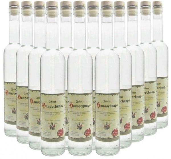 18 Flaschen Prinz Hausschnaps Marille 0,5l - Schnaps aus Österreich - 4% Rabatt