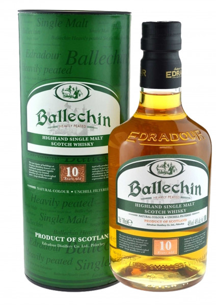 Ballechin 10 Jahre Heavily Peated 0,7l inkl. Geschenkdose - Highland Single Malt Scotch Whisky