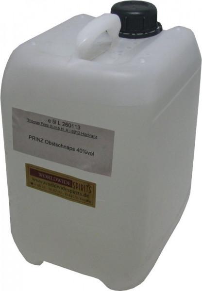 Prinz Obstler 40% - 5 Liter Kanister Spirituose aus Österreich