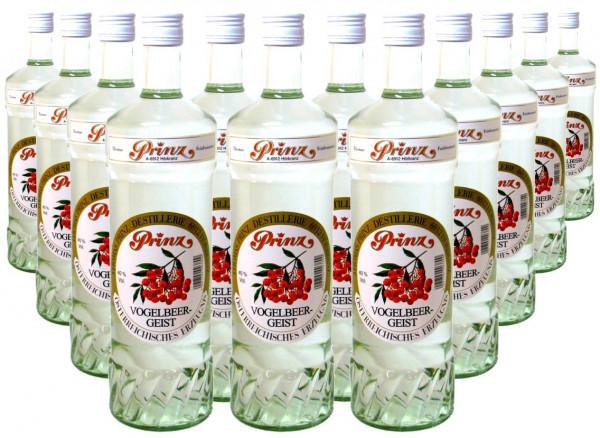 36 Flaschen Prinz Vogelbeer-Geist 1,0l aus Österreich - 4 % Rabatt