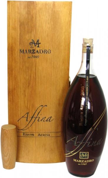 Marzadro Grappa Affina Riserva Acacia Jahrgang 2003 mit exclusiver Holzkiste