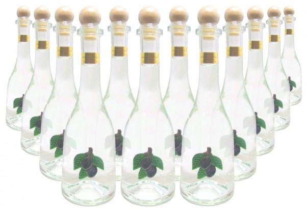 12 Flaschen Prinz Pflümli ( Pflaumenschnaps ) 0,5l - Spirituose aus Österreich in Rustikaflasche mit