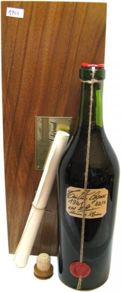 Lheraud Cognac 0,7l Jahrgang 1941 mit Zertifikat incl. Holzkiste