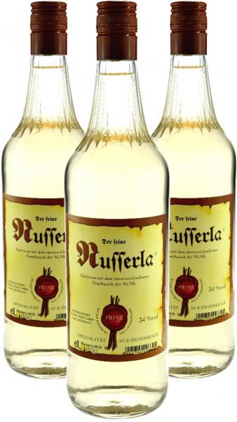 3 Flaschen Prinz Nusserla (Nussschnaps) 1,0l aus Hörbranz in Österreich