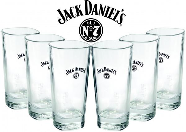 6 x Jack Daniels Longdrinkglas