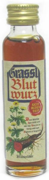 Grassl Blutwurz Kräuterlikör Miniatur