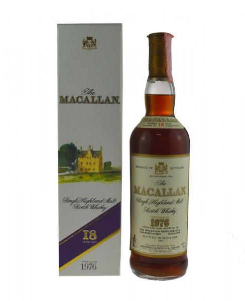 The Macallan Whisky 0,7l Jahrgang 1976, 18 Jahre alt, abgefüllt 1994 - mit Geschenkpackung