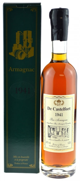 De Castelfort Armagnac Jahrgang 1941 - abgefüllt 2016 - 75 Jahre im Fass gelagert