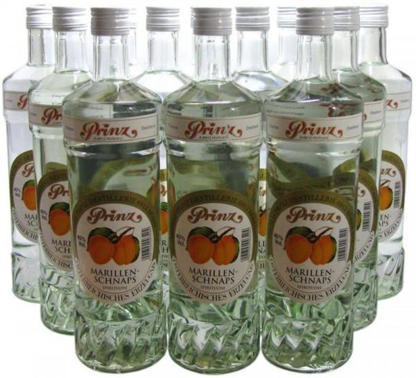 18 Flaschen Prinz Marillenschnaps 1,0l Spirituose aus Österreich - 4,8 % Rabatt