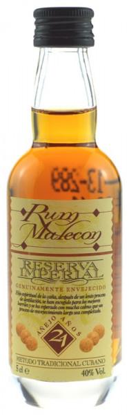Malecon Reserva Imperial Rum 21 Jahre Miniatur
