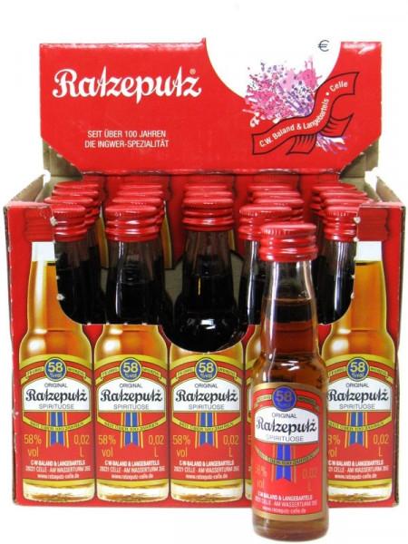 Original Ratzeputz Kräuterlikör Miniaturenpaket 20x0,02l