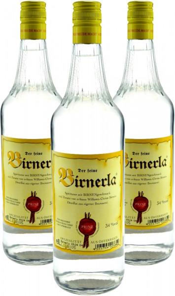3 Flaschen Prinz Kirscherla 1,0l - feiner Kirschbrand aus Österreich
