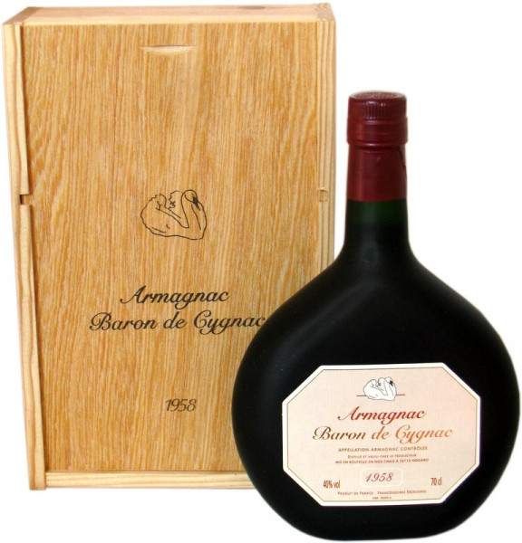 Armagnac Baron de Cygnac Jahrgang 1958 - 0,7l