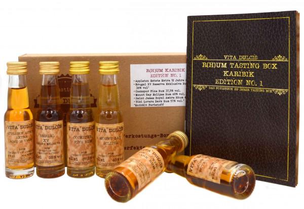 Vita Dulcis Tasting Box R(h)um Nr. 5: Karibik Edition No.1 - 6x0,02l