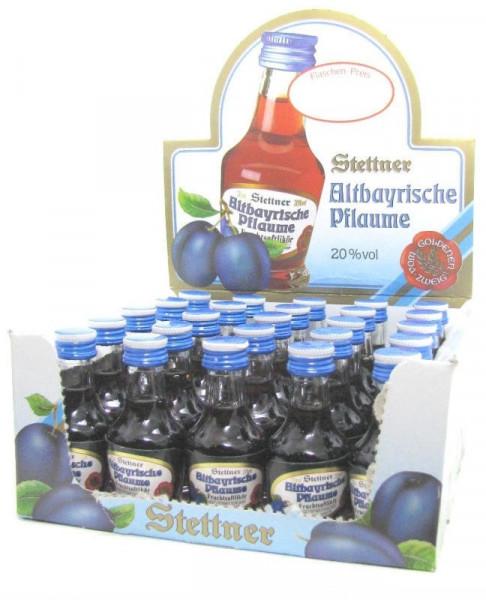 Stettner Altbayrische Pflaume Fruchtsaftlikör 25x0,02l Miniaturen
