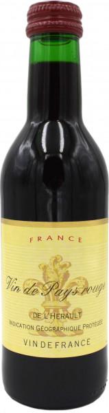 Vin de Pays rouge 12x0,25l
