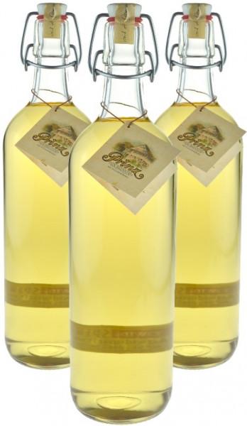 3 Flaschen Prinz Alte Haselnuss (Schnaps) 1,0l - im Holzfass gereift aus Österreich