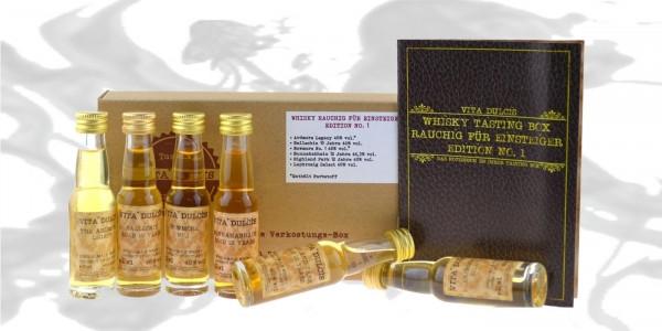 Whisky Tasting Box rauchig für Einsteiger 6x0,02l