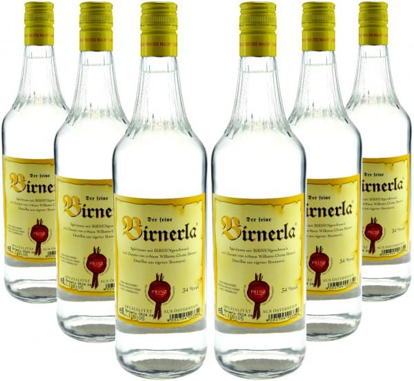 6 Flaschen Prinz Birnerla - fruchtige Williams-Christ-Birnen-Spirituose 1,0l aus Hörbranz in Österre