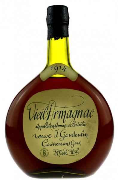 Vieil Armagnac Goudoulin 0,7l Jahrgang 1914