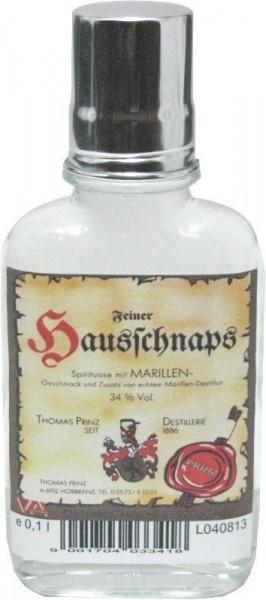 Prinz Hausschnaps Marille 0,1l Flachmann - Schnaps aus Österreich