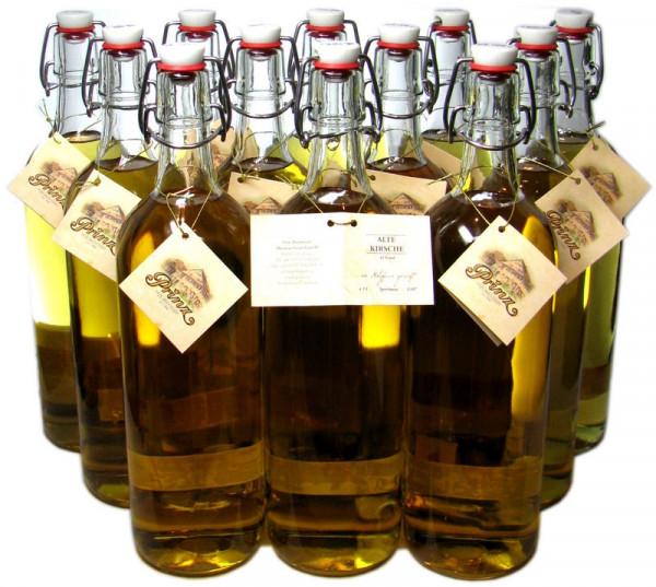 12 Flaschen Prinz Alter Kirschen Schnaps 1,0l - im Holzfass gereift aus Österreich