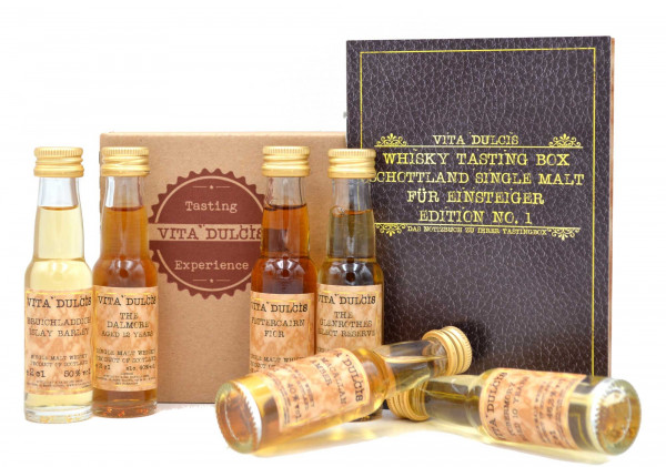 Whisky Tasting Box Schottland Single Malt Einsteiger 6x0,02l