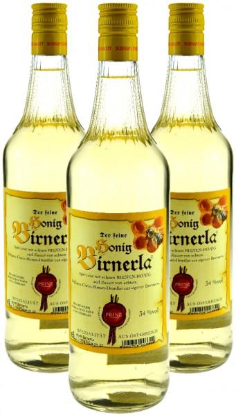 3 Flaschen Prinz Honig Birnerla ( Birnenschnaps mit Honig ) 1,0l aus Österreich
