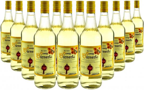 12 Flaschen Prinz Honig Birnerla ( Birnenschnaps mit Honig ) 1,0l aus Österreich