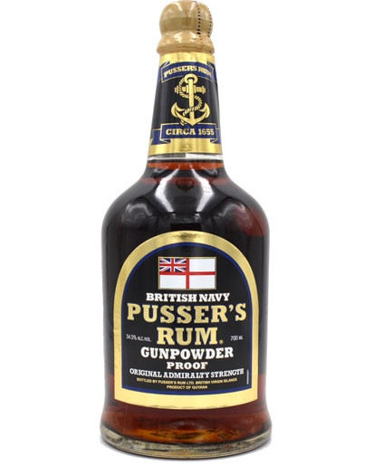 Pussers British Navy Rum Black Label Gunpowder Proof
