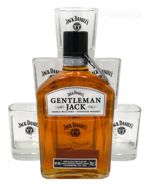 Geschenkidee 27: 1x Gentleman Jack 0,7l + 6x Jack Daniel's Tumbler