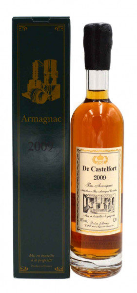 Armagnac De Castelfort 0,2l Jahrgang 2009
