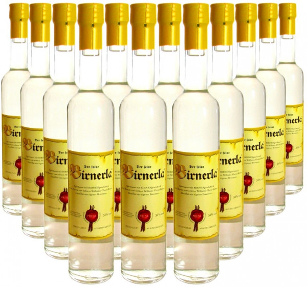 18 Flaschen Prinz Birnerla ( Birnenschnaps ) 0,5l aus Österreich - 3,5% Rabatt